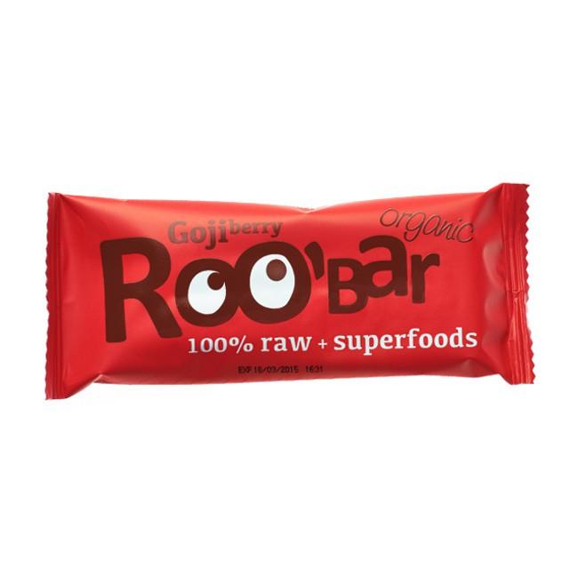 Fruchtiger Goji Berry Rohkostriegel von Roo'bar 50g
