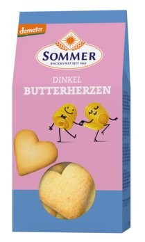 Sommer : Dinkel Butter-Herzen, demeter (150g)