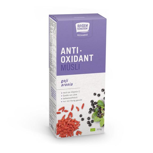 Rosengarten Antioxidant Müsli Recharge, bio 350g