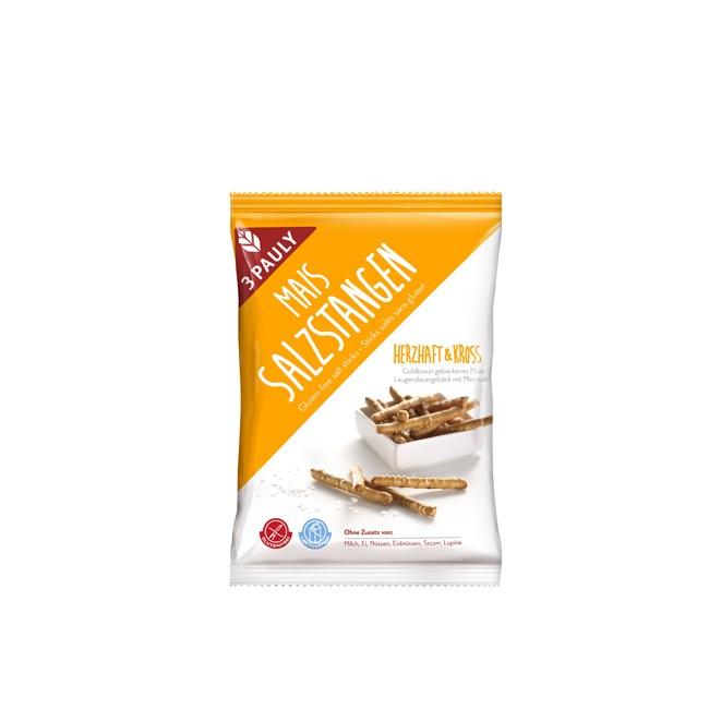Mais Salzstangen von 3 Pauly (75g) - glutenfrei, vegan