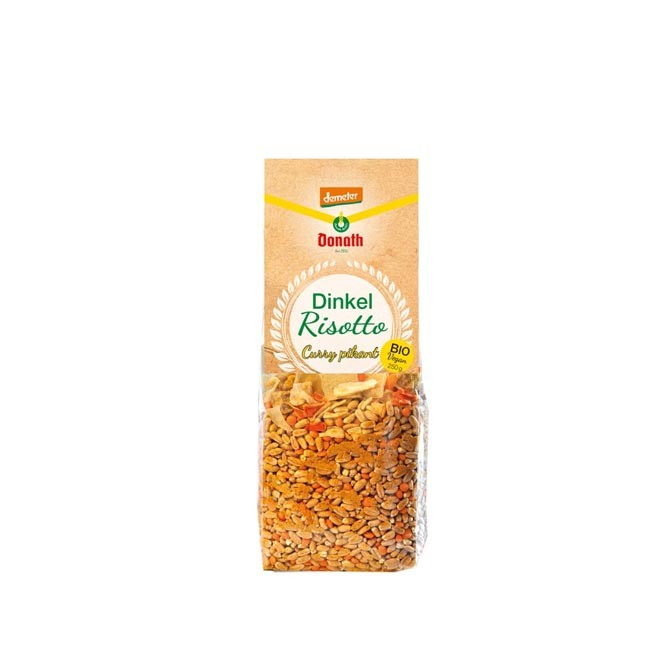 Donath Mühle : Dinkel Risotto Curry Pikant, Demeter 250g