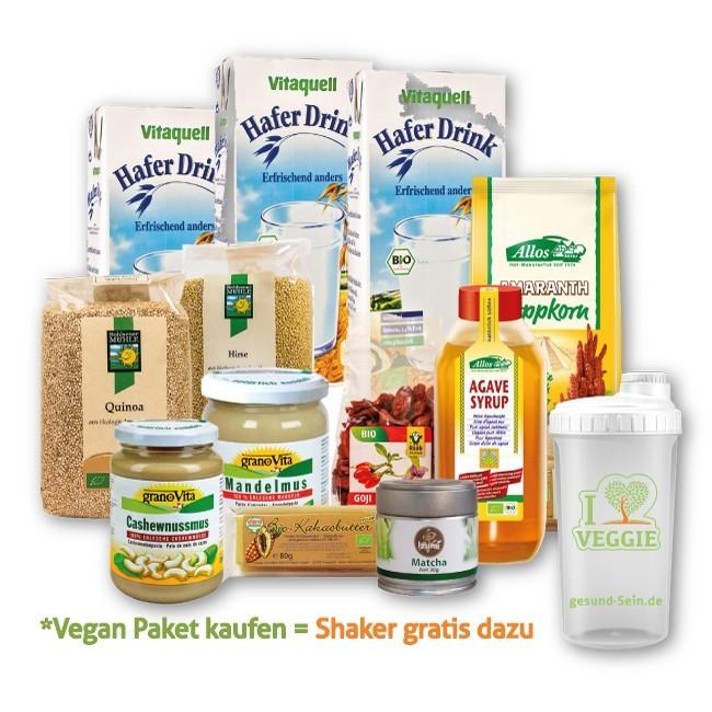 Veganes Challenge Paket XL - 13 vegane Produkte + gesund-Sein Shaker