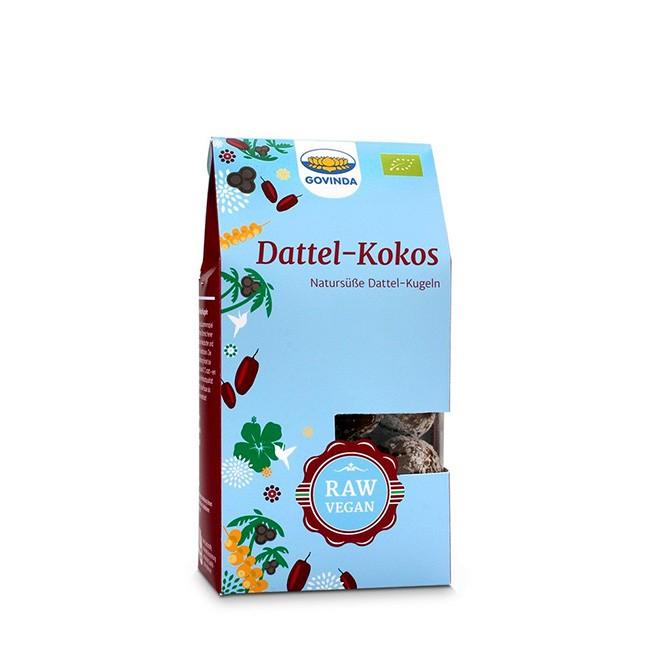 Bio Dattel Kokos Kugeln von Govinda - Rohkost Konfekt, glutenfrei und vegan