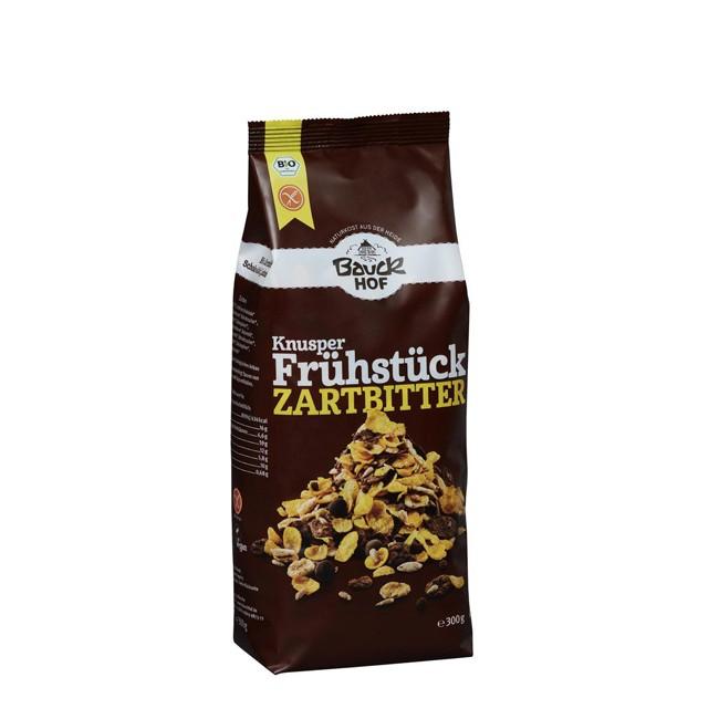 glutenfreies Bauckhof Knusper Frühstück Zartbitter 300g