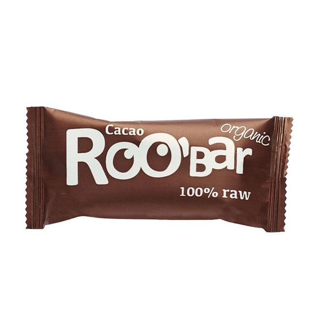 Purer Schokoladengenuss Rohkost Kakao Riegel von Roo'bar 50g vegan
