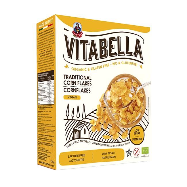 Bio Cornflakes aus italienischen Mais von VITABELLA - vegan und glutenfrei, kosher