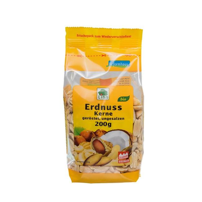 Lihn Bio Erdnusskerne geröstet, ungesalzen, 200g