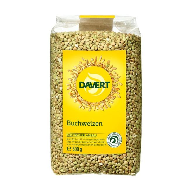 Davert deutscher Bio-Buchweizen 500g - glutenfrei