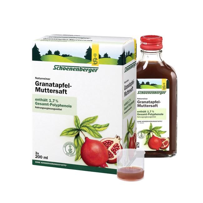 Schoenenberger Granatapfel Muttersaft naturrein -belassen aus Bio Anbau mit tollem starken Aroma und viel enthaltenen Poylphenolen