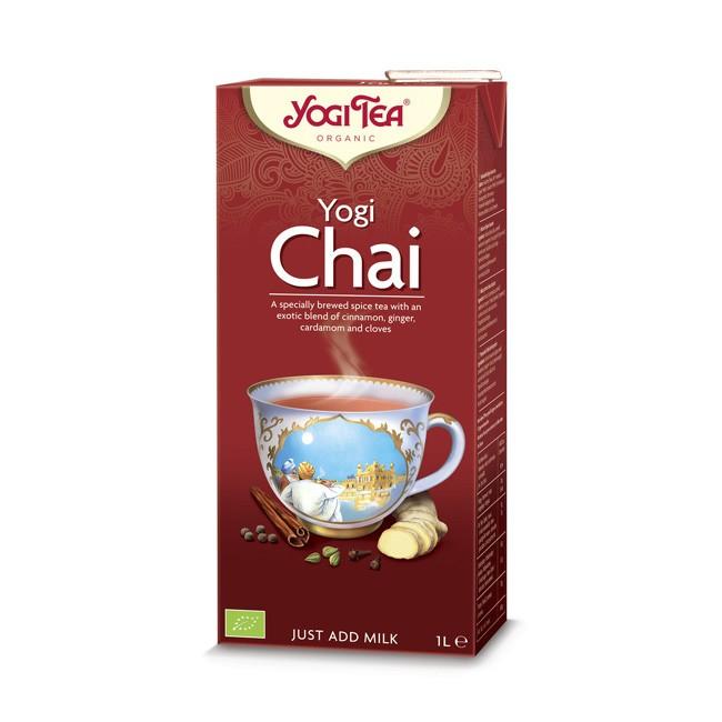 Yogi Tea Chai 1l Eis Tee Konzentrat im praktischen Tetrapack wenn es schnell gehen soll bio
