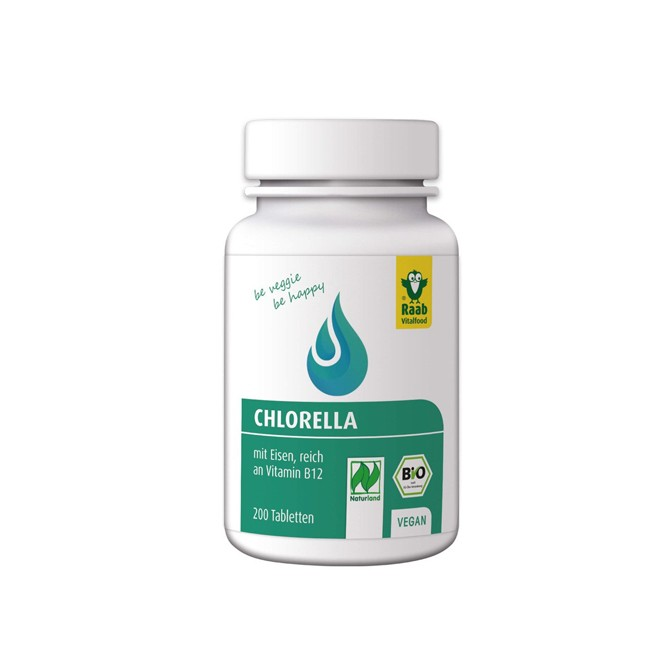 Raab Chlorella Tabletten, bio 200 St.