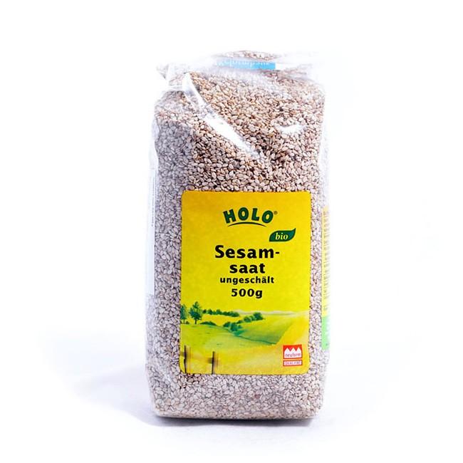 HOLO Sesamsaat, ungeschält, 500g in Bio Qualität