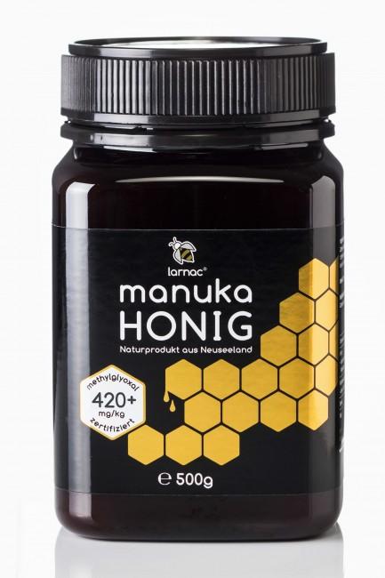 neuseeländischer Manuka-Honig mit 420+ von Larnac (500g)
