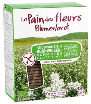 Blumenbrot: Buchweizenschnitten