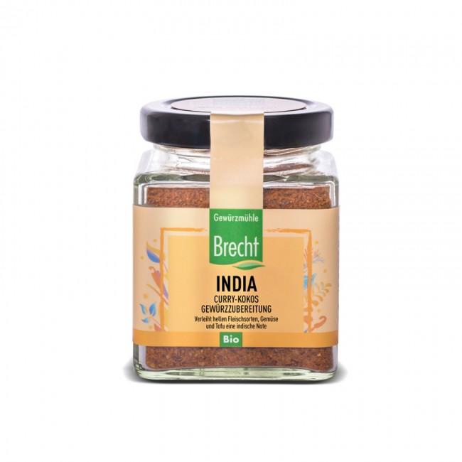 Brecht : India Marinade Curry-Kokos, bio (100g)