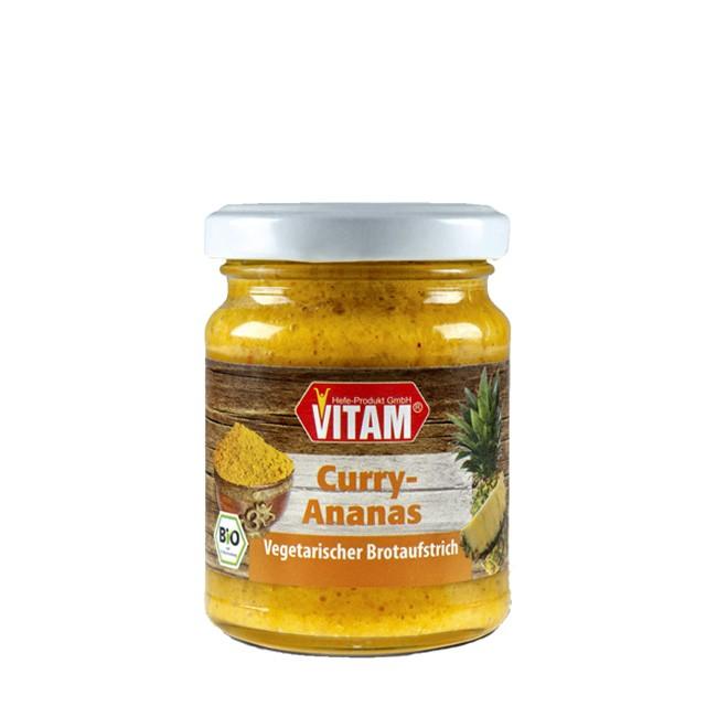Aufstrich mit Curry und Ananas von Vitam glutenfrei und für Vegetarier bio 115g Glas