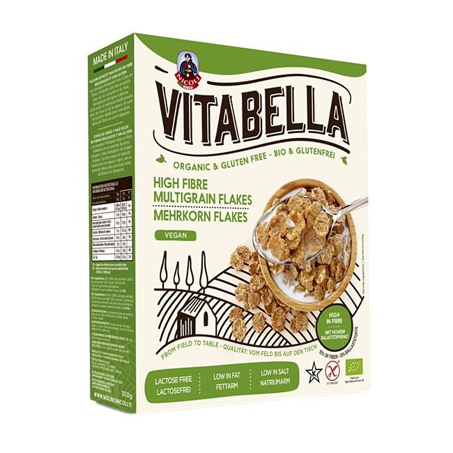 Bio Mehrkornflakes aus Reis und Mais von Vitabella - vegan und glutenfrei, sowie koscher