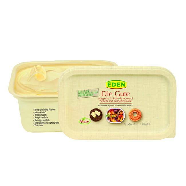 Eden DIE GUTE Pflanzenmargarine 250g - als Brotaufstrich, zum Kochen und Backen