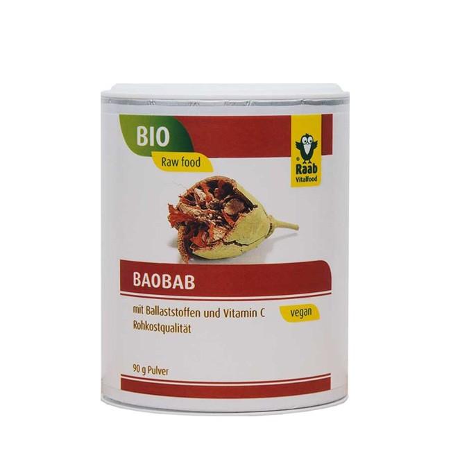 Raab Bio Baobab Pulver in der Dose 90g