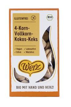 Werz : 4-Korn Kokos Kekse, bio (150g)