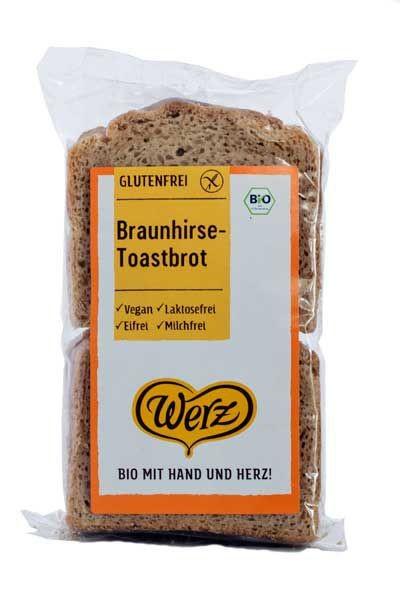 Werz : Braunhirse Toastbrot, bio (250g)