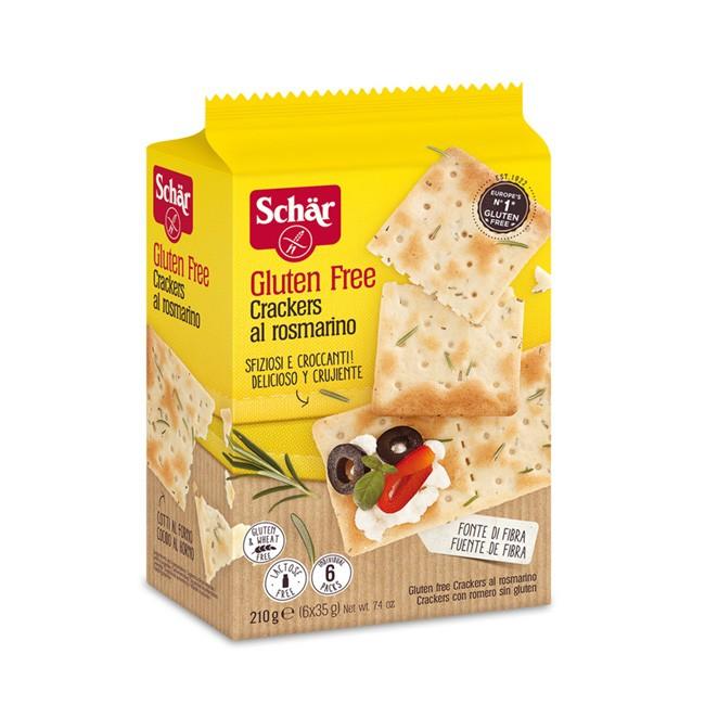 Glutenfreie Cracker von Dr. Schär mit feiner Rosmarinnote