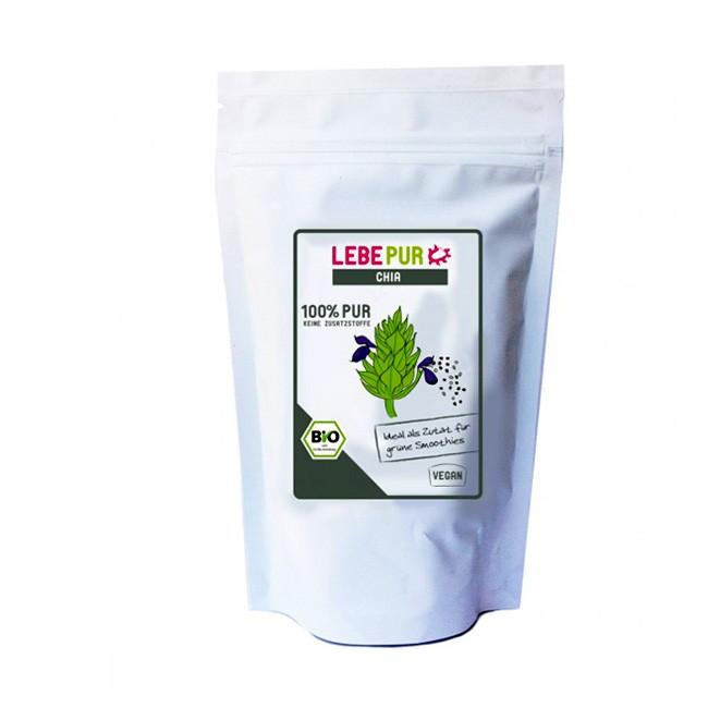 200g Lebepur Chia Pur - Samen mit reichlich Omega 3 Fettsäuren