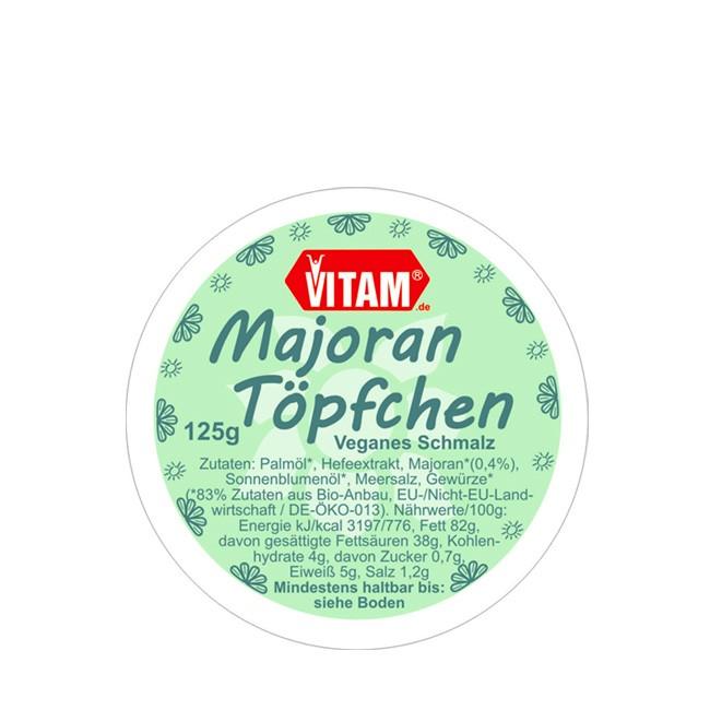 VITAM Majoran Töpfchen bio 125g als Kochzutat vegan