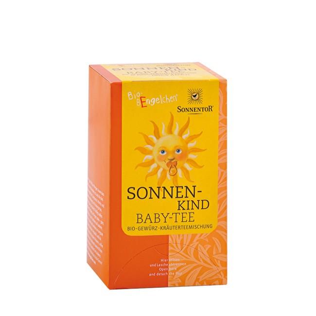 Bio Baby-Tee von Sonnentor mit Fenchel, Anis und Zitronenmelisse (20 Beutel im Spender)