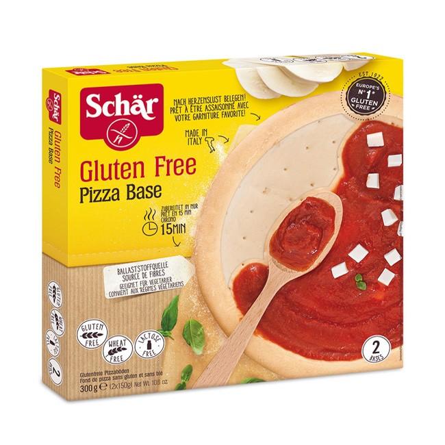 Zwei glutenfreie Pizzaböden von Dr. Schär - zum individuellen Belegen und Aufbacken