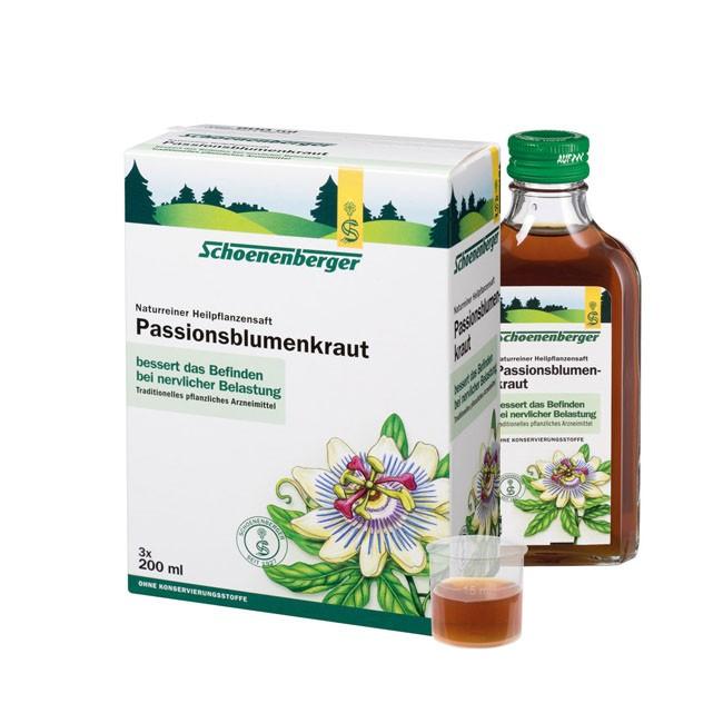 Schoenenberger Naturreiner Heilpflanzensaft Passionsblumenkraut bio (600ml)