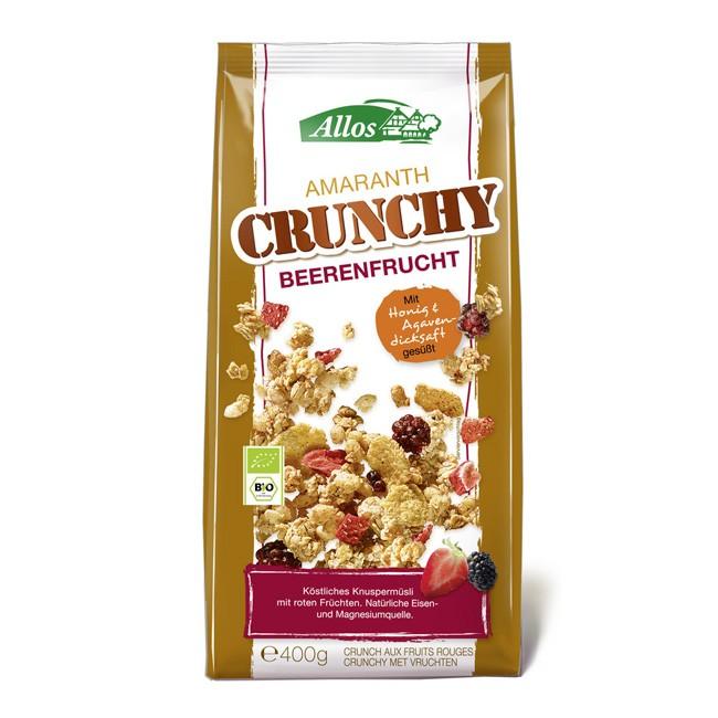 Allos Crunchy Beerenfrucht Müsli mit Amaranth und roten Früchten (bio) 400g Tüte