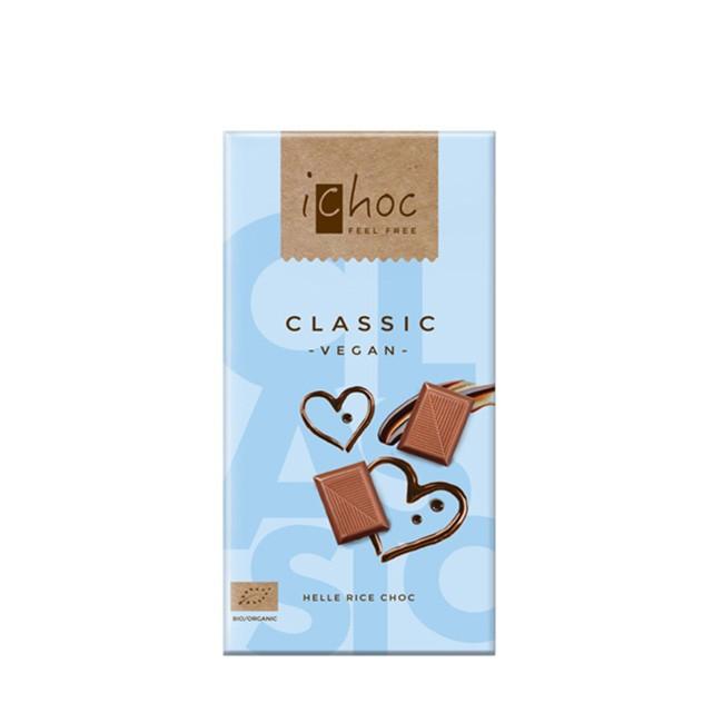 Bio Reismilchschokolade von i-Choc - Classic, ehemals Milkless (80g)