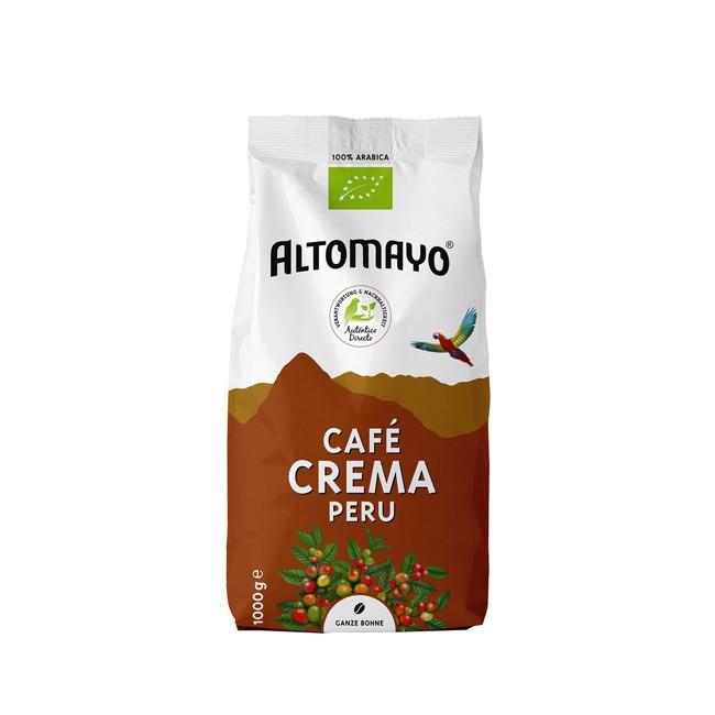 Bio Kaffee Café Crema ganze Bohnen 1000g Altomayo
