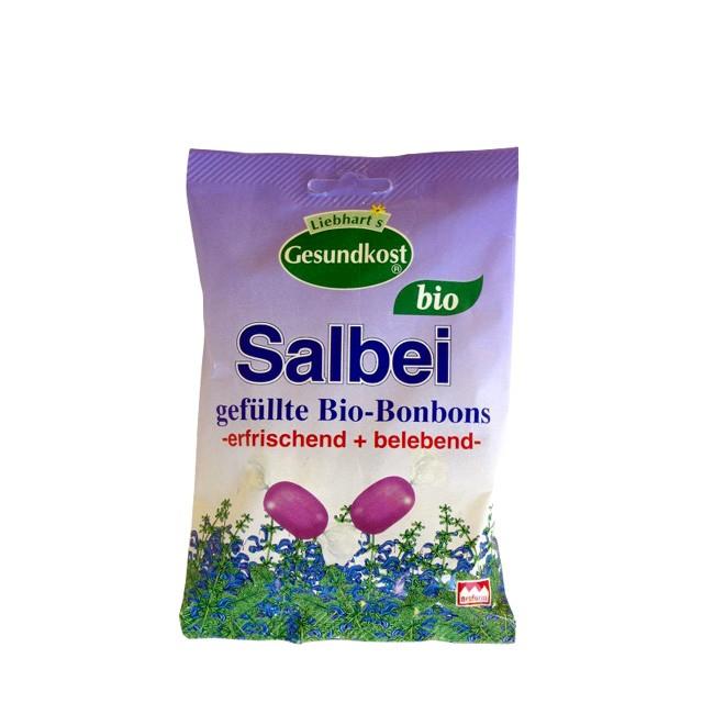Liebart's Gesund(e)Kost feine bio salbei Bonbons mit echtem Salbei und Kräuterextrakten