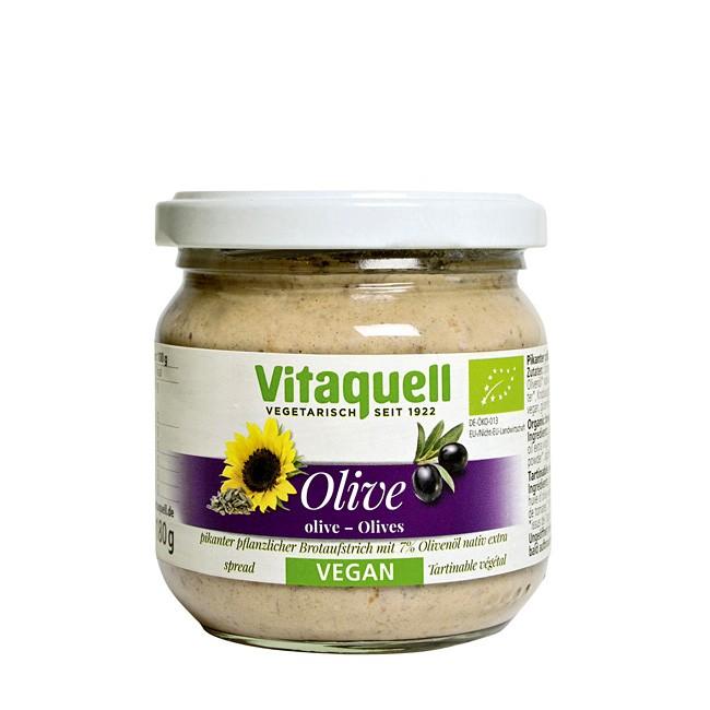 Bio Sonnenblumenaufstrich mit Olive von Vitaquell 180g