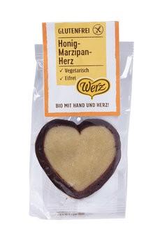 Werz : Honig-Marzipan-Herz, bio (1 Stk)