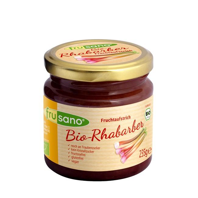 FRUSANO Rhabarberaufstrich ohne Fructose 235g - vegan und glutenfrei