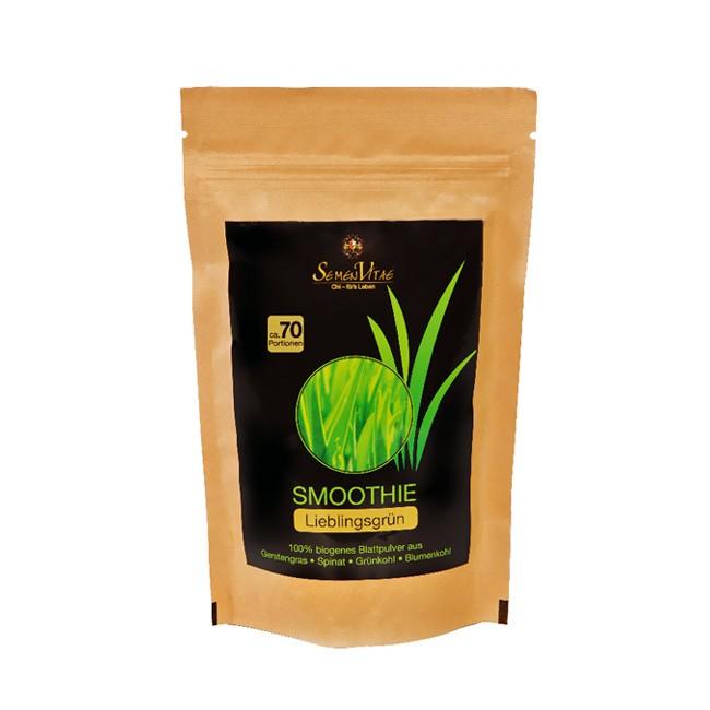 biogene Smoothie Pulver Mischung Lieblingsgrün von Semen Vitae bio 150g