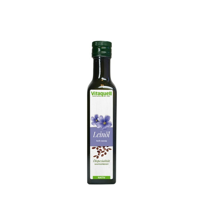 Natives Leinöl von Vitaquell 250ml