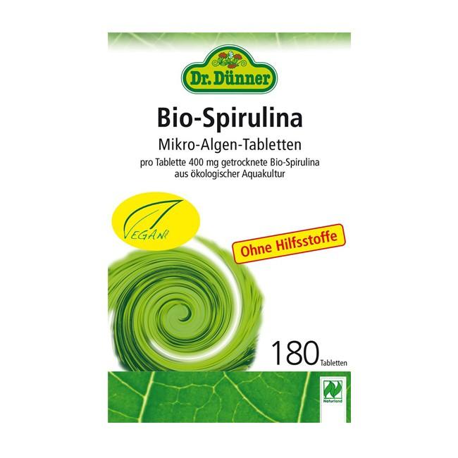 Bio Spirulina Tabletten von Dr.Dünner (180Stk.)