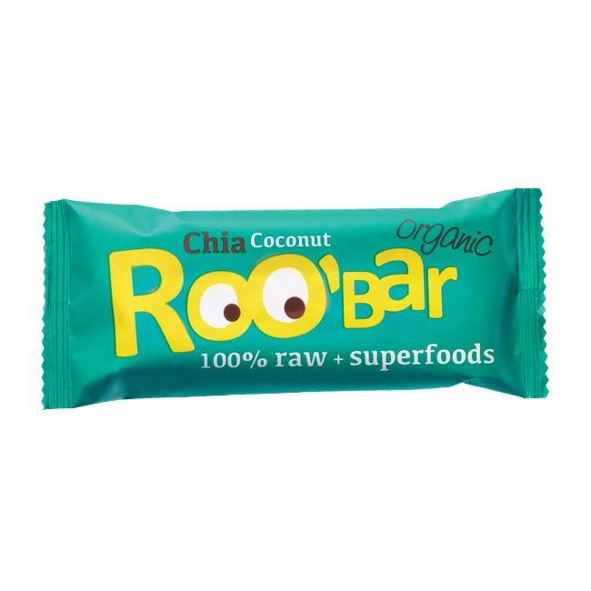 Roo'bar Bio Rohkostriegel Chia-Kokos 50g vegan & glutenfrei