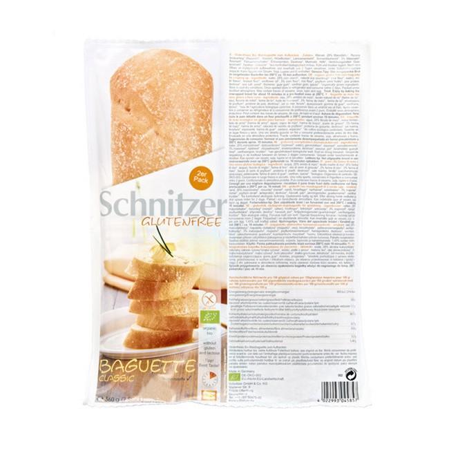 Schnitzer glutenfreies bio Weizen Baguette TYp Cassic passt klassisch zu jedem Grillabend