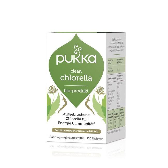 PUKKA Clean Chlorella Tabletten, bio (150 Stk) Nahrungsergänzungsmittel