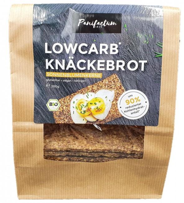 Panifactum : Lowcarb Knäckebrot Sonnenblumenkerne, bio (200g)