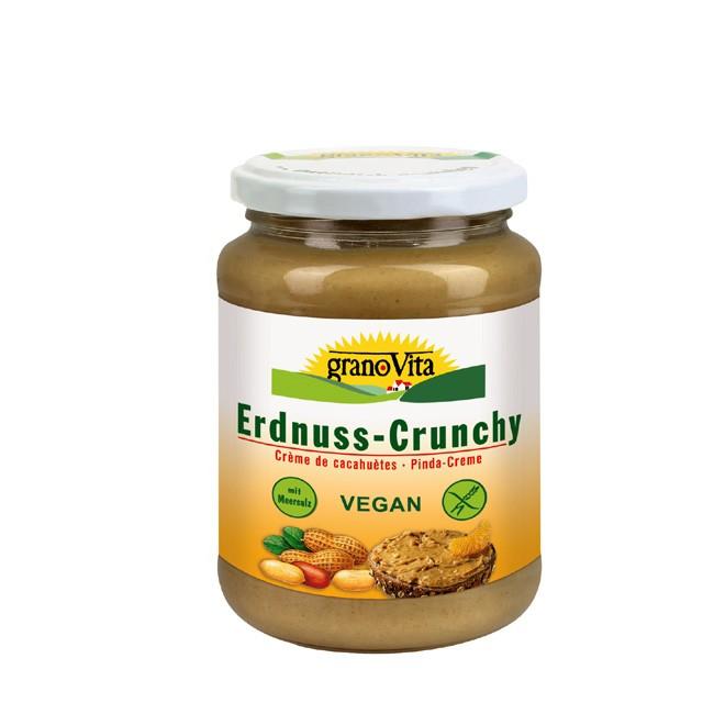 erdnussmus-crunchy-granovita-350g-bio-vegan und vielen Ballaststoffen