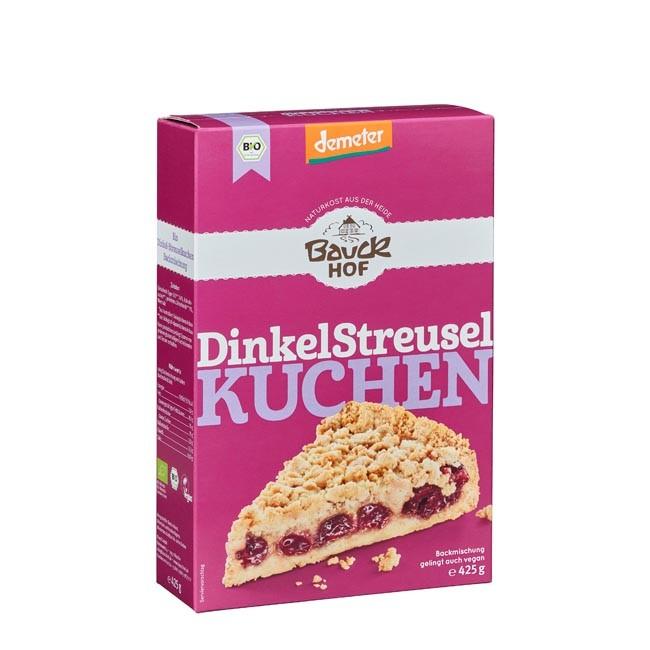 Bauckhof Backmischung Dinkel Streuselkuchen Demeter 425g