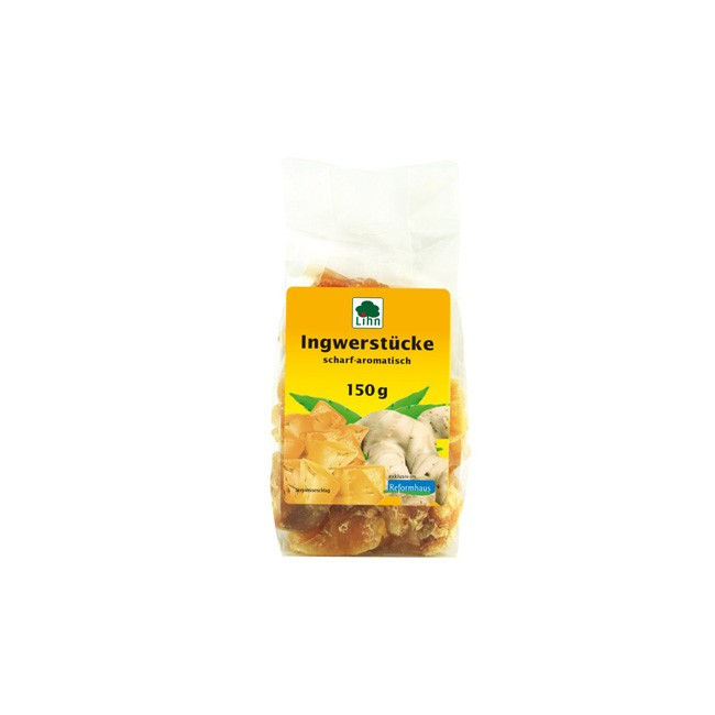 Lihn Ingwerstücke scharf aromatisch 150g