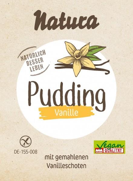 Natura : Pudding Pulver - Bourbon Vanille (3x40g)