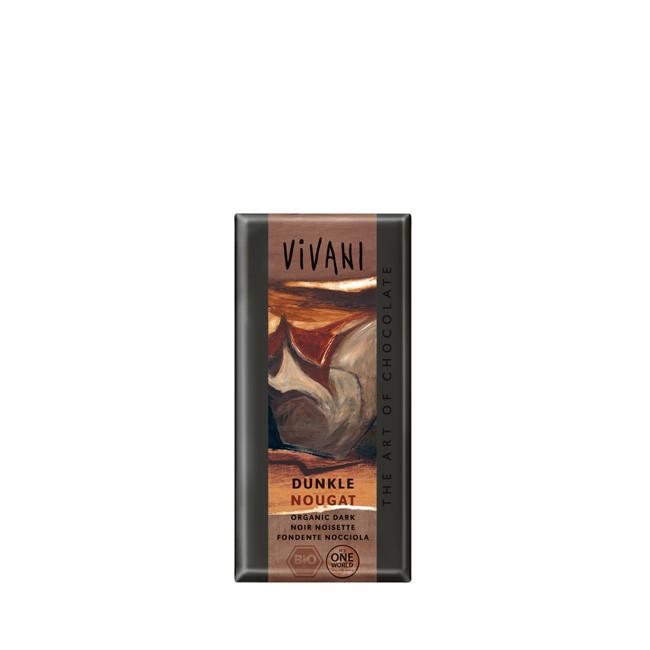 vivani dunkle nougat-schokolade, vegan&bio